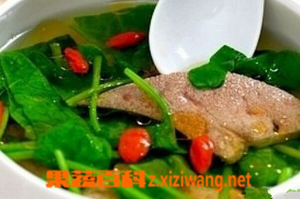 果蔬百科猪肝汤的功效与作用